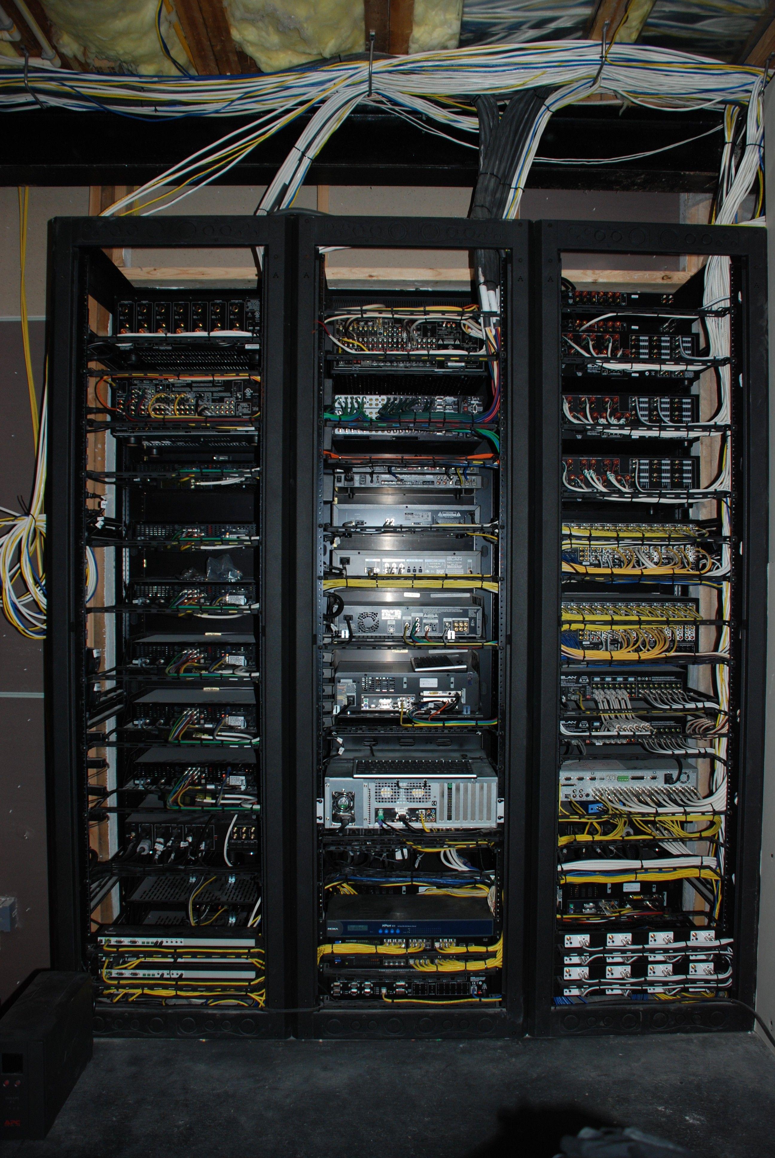 three racks from rear racks and wiring three racks from rear