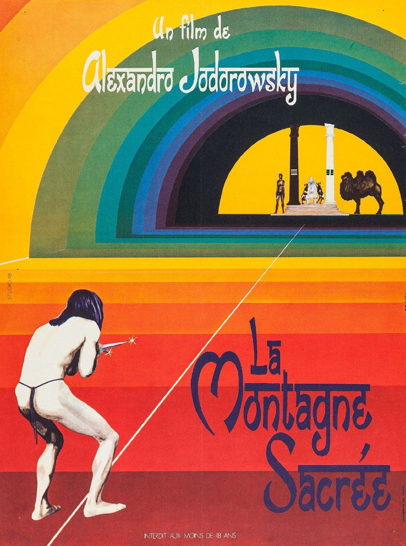 Amazon.com: THE HOLY MOUNTAIN Movie Poster RARE European Version Alejandro Jodorowsky 24x36inch: Posters & Prints