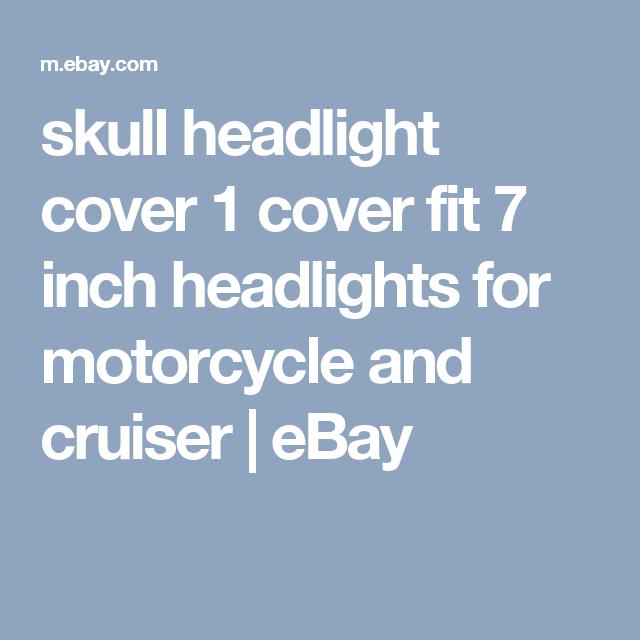 SKULL  HEADLIGHT COVER FOR 7 INCH HEADLIGHTS ALL BIKES HONDA BOBBERS HARLEYS