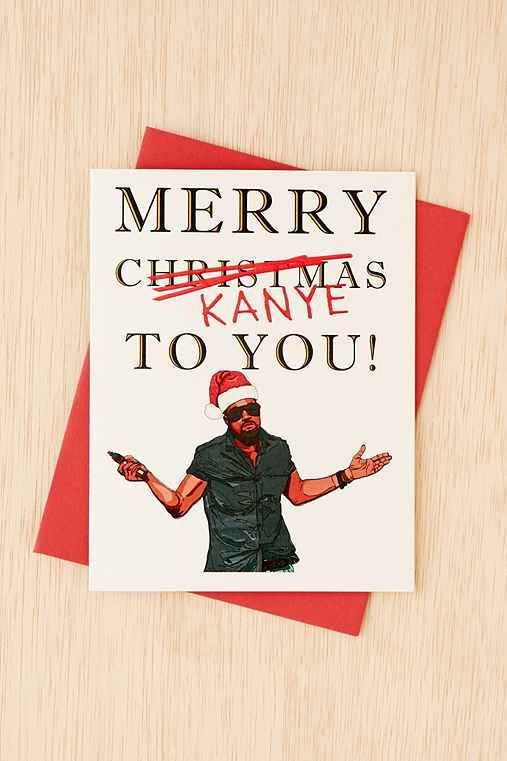 Seas and peas merry kanye holiday card