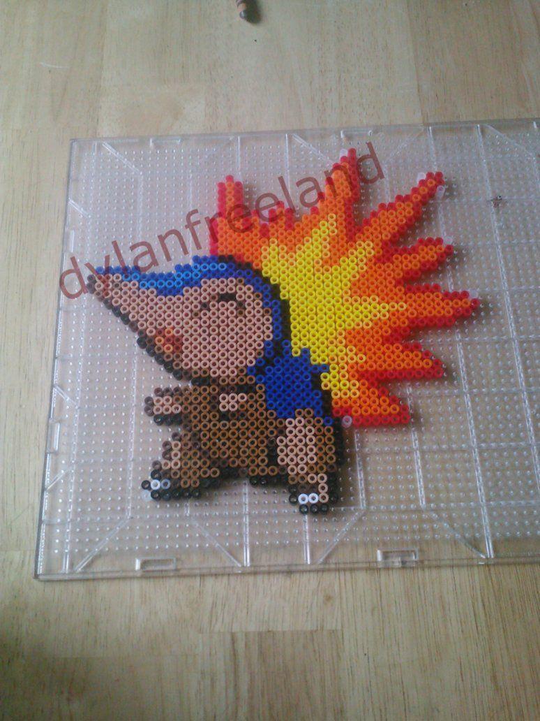 Cyndaquil Pokemon perler beads by ~dylrocks95 on deviantART
