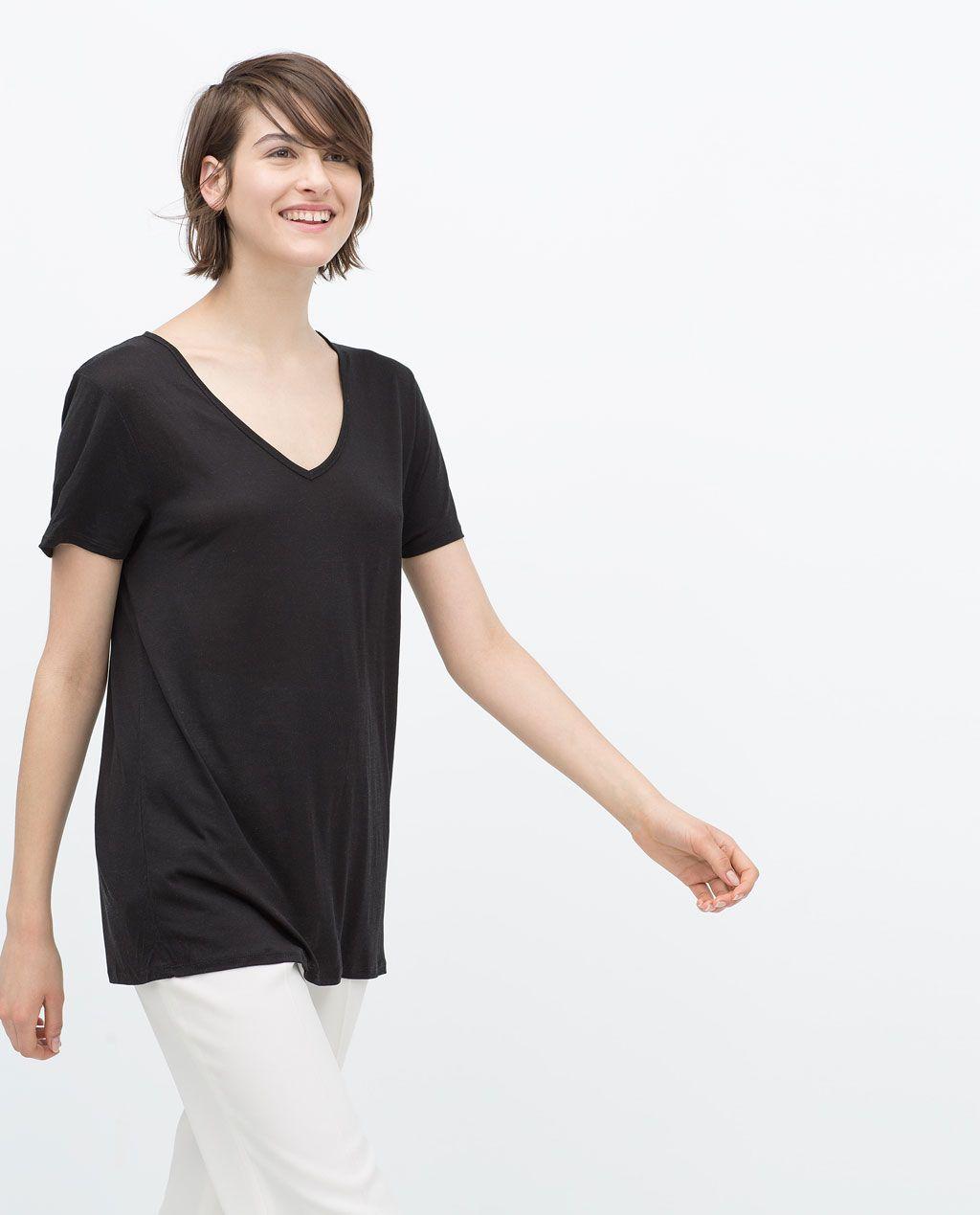Zara woman extra long tshirt springsummer capsule