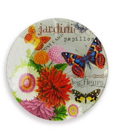 Take a look at this Jay Import Bouquet de Fleur Canapé Plate - Set of Four by Jay Import on #zulily today!