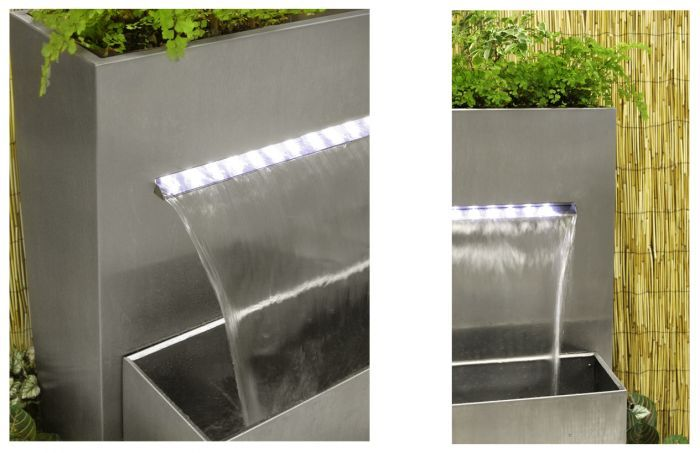 H89cm Sutherland Falls Planter Waterfall Cascade With Lights