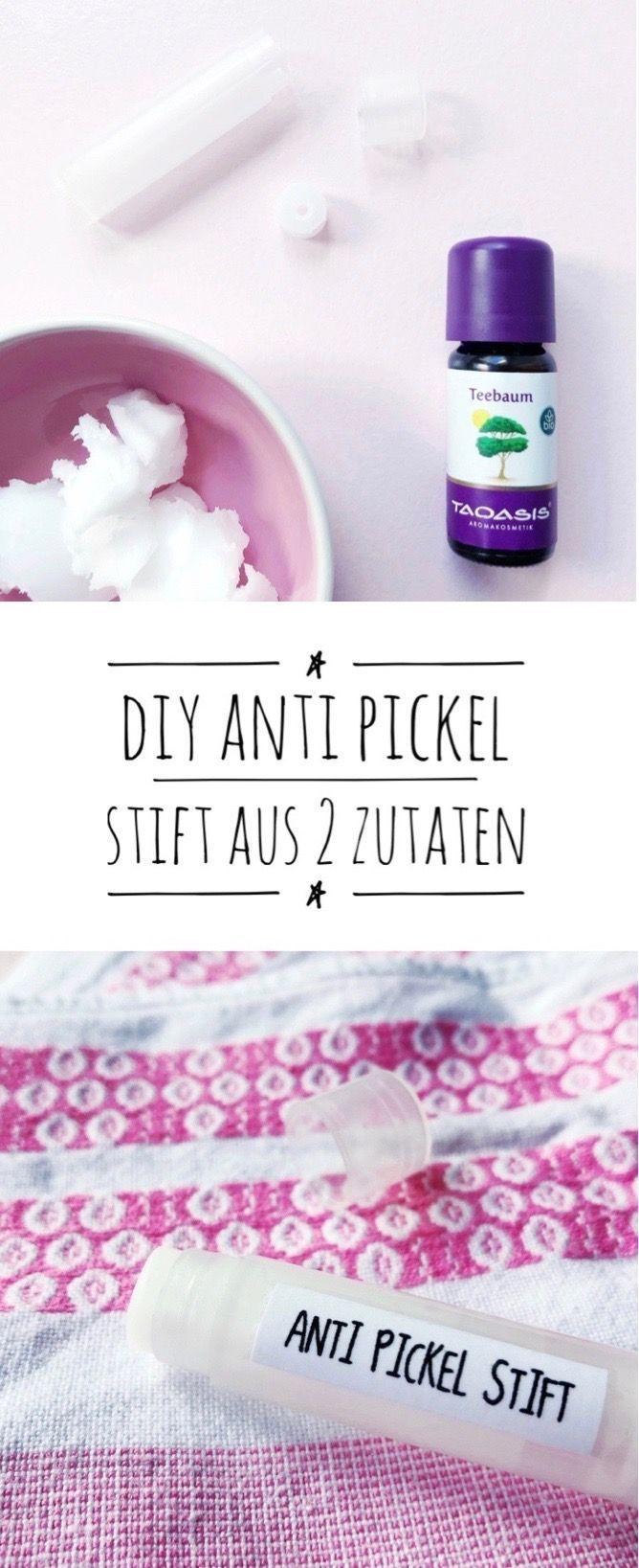 Anti-Pickel-Stift selbst macht nur 2 Zutaten - so geht's!   - DIY Kosmetik selber machen Rezepte -