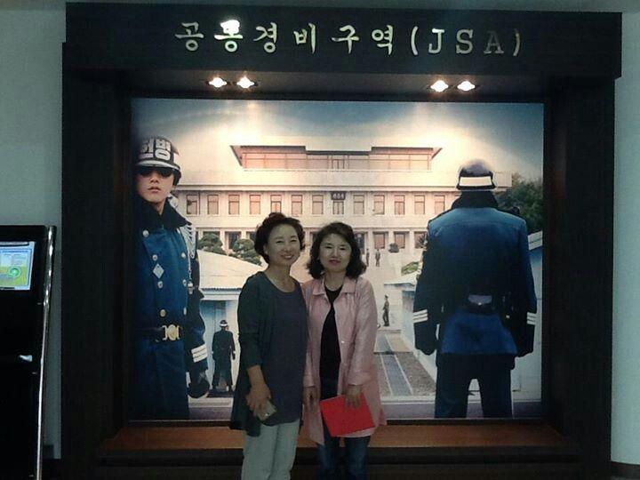 북한쪽 판문각을 배경으로~