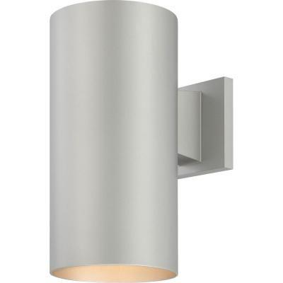 Volume Lighting Medium 1 Light Silver Gray Aluminum Integrated Led Indoor Outdoor Wall Mount Cylinder Light Wall Sconce Outdoor Wall Lighting Outdoor Wall Sconce Wall Lights