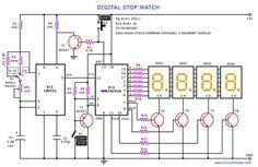 digital stop watch circuit 555 pinterest digital timer and rh pinterest co uk