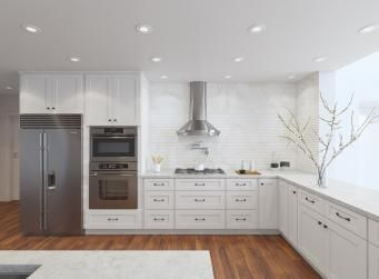 arctic white shaker rta kitchen cabinets kitchen pinterest rta