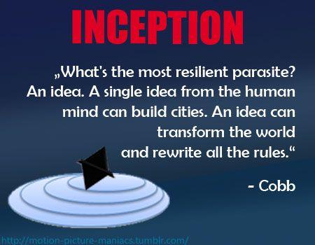 Inception Movie Quote Filmzitat