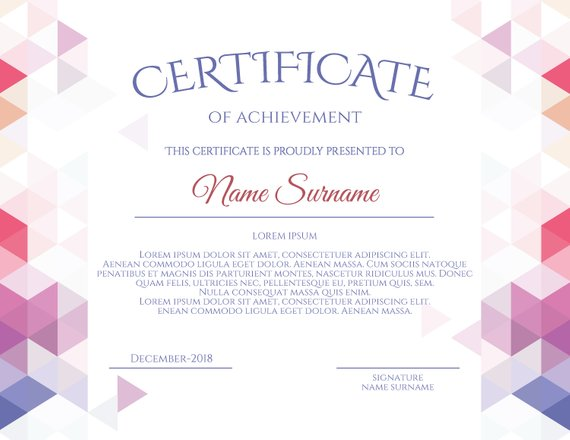 Elegant Multipurpose Editable Certificate Template Editable
