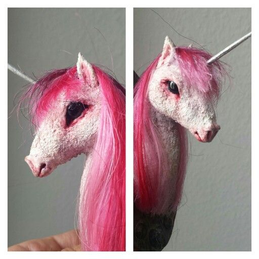 Pink Unicorn polymer clay