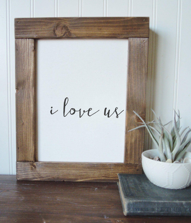 I love uscalligraphy signcanvas printframed artwall artwood