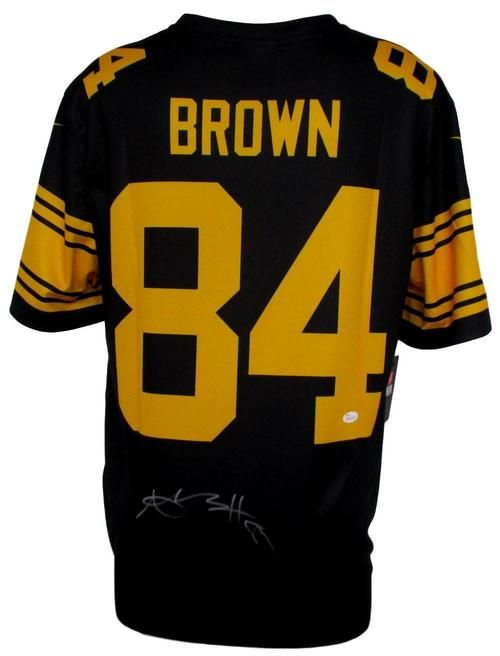 1db60fdbd Antonio Brown Signed Pittsburgh Steelers Nike Color Rush Replica ...