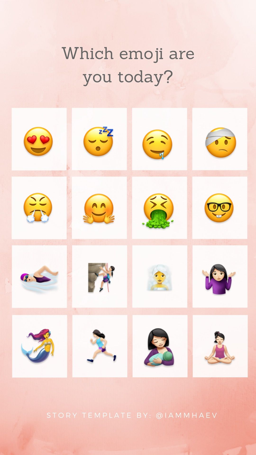 Which Emoji Are You Today Instagram Story Template Instagram Story Questions Instagram Challenge Instagram Story Ideas