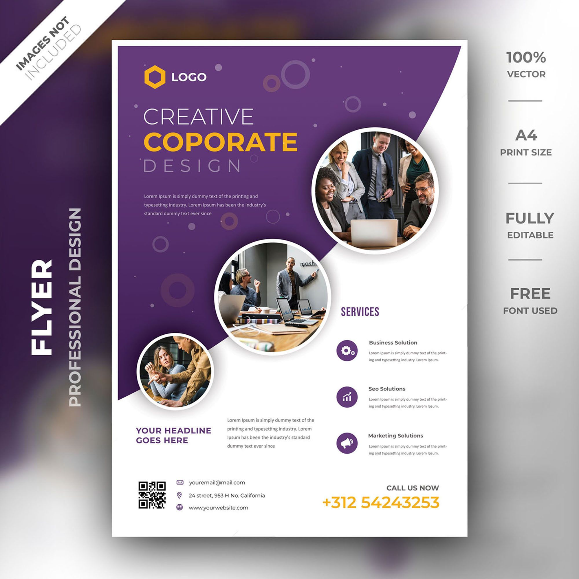 Business Flyer Template Corporate Template Photoshop Psd