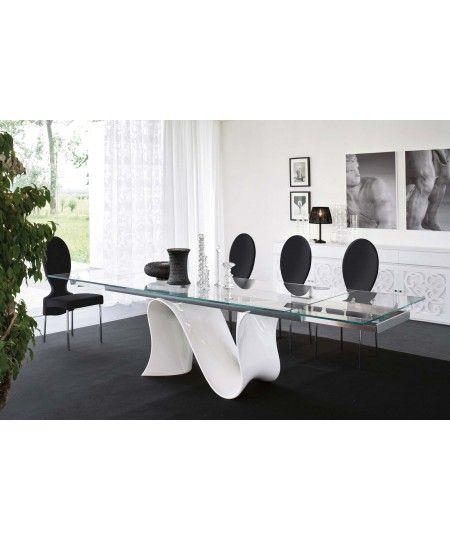 Tavolo allungabile vetro Wave | home sweet home | Pinterest ...