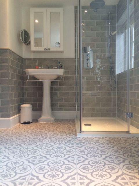 Photo of Bodenideen oder vielleicht Teppich gemustert b und m – bathroom