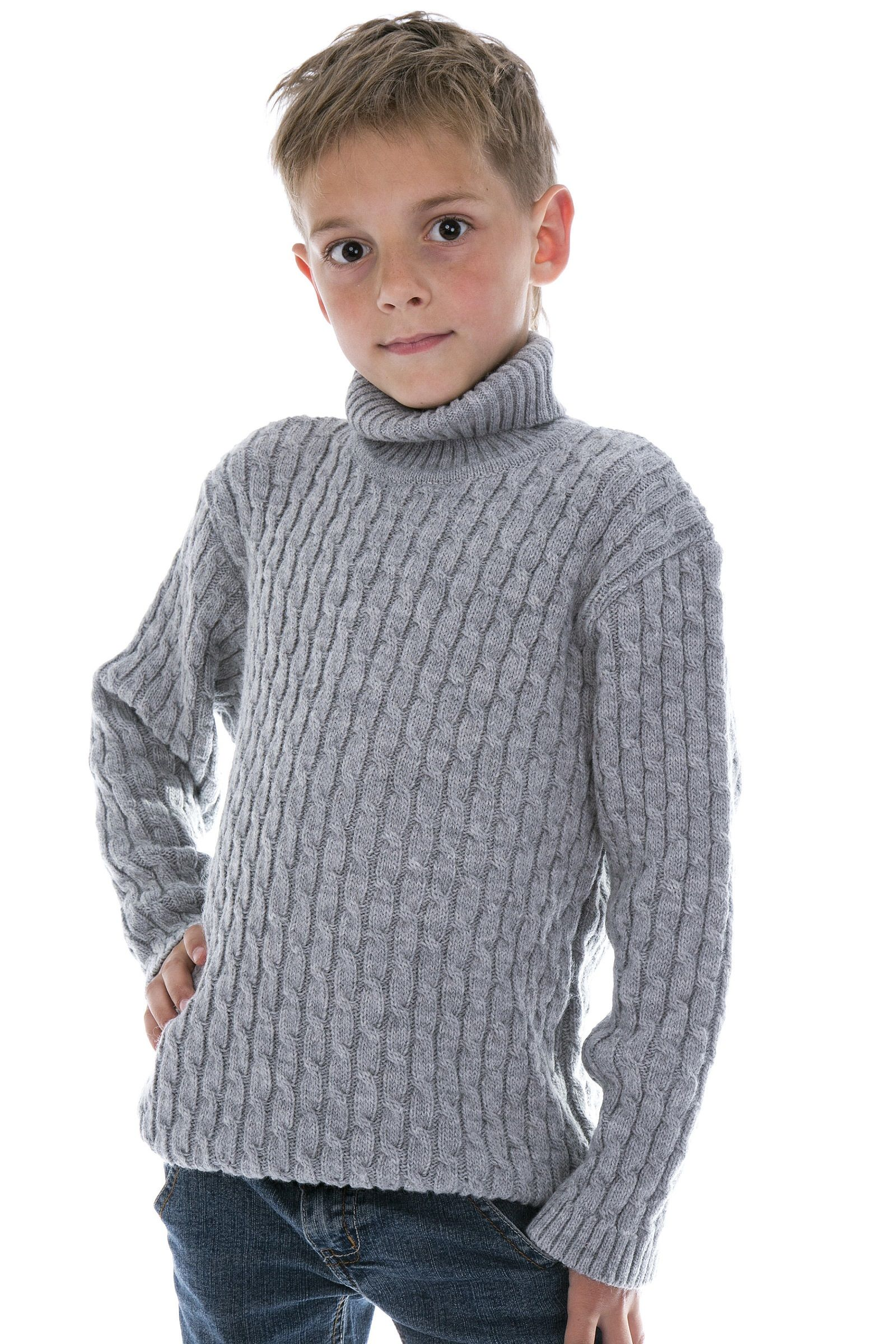 Pullover Jungs Boys Kids Alpaca Turtleneck Sweater Photo From Make Boys Kids