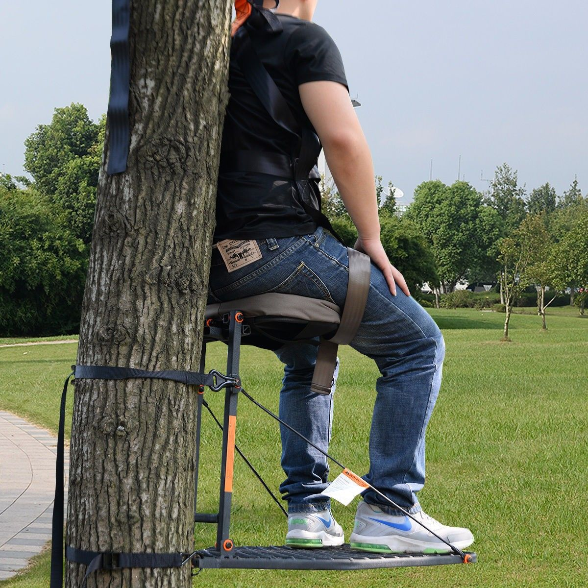 Hang On TreeStand Seat Cushion Safety Harness Hunt Climber