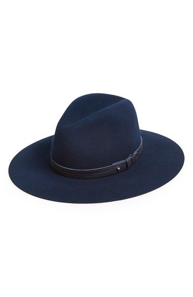 4f6dee96d3266 Free shipping and returns on rag   bone Wide Brim Wool Fedora at  Nordstrom.com. Signature push-stud hardware secures the sleek leather band  of a classic