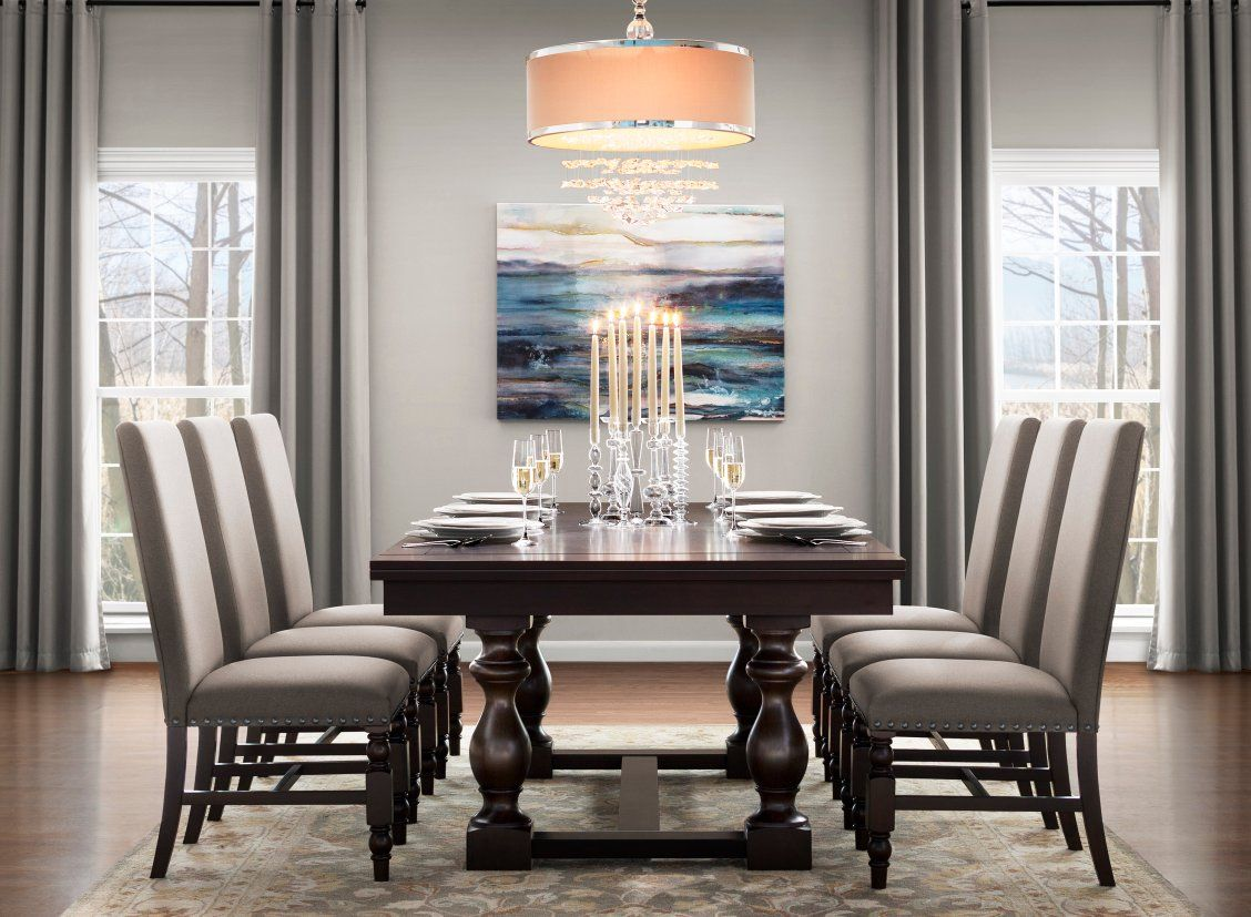 Create A Classically Beautiful Dining Room With The Halloran 7 Piece Dining Set Traditional Features Like Beautiful Dining Rooms Dining Room Decor Dining Set