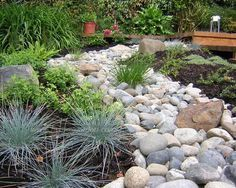 Garden Design With River Rock Landscaping On Pinterest Gardens Drainage Backyard