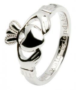 Silver Claddagh Ring with Love Loyalty Friendship ...