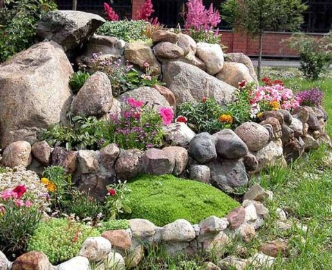 Easy Ideas for Landscaping with Rocks #steingartenideen