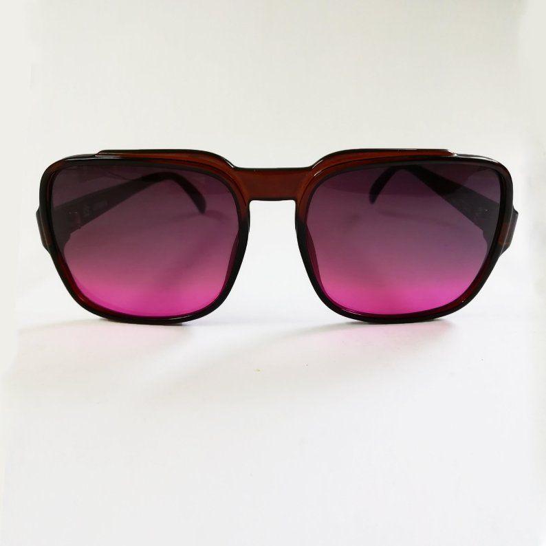 Men Women Sunglasses Vintage Purple Cobra Eyewear Lunettes 70s