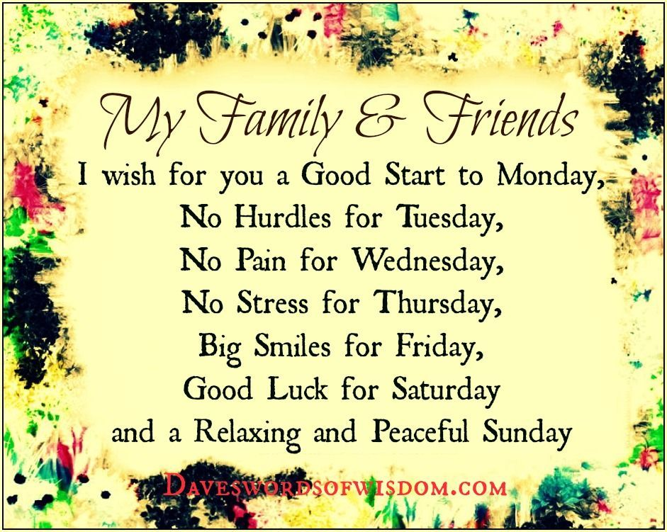 To My Family And Friends Quotes Quote Friends Family