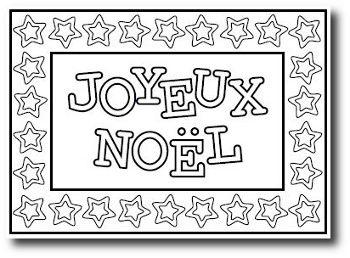 Cartes de Noël à colorier | Carte joyeux noel, Carte noel, Joyeux noel