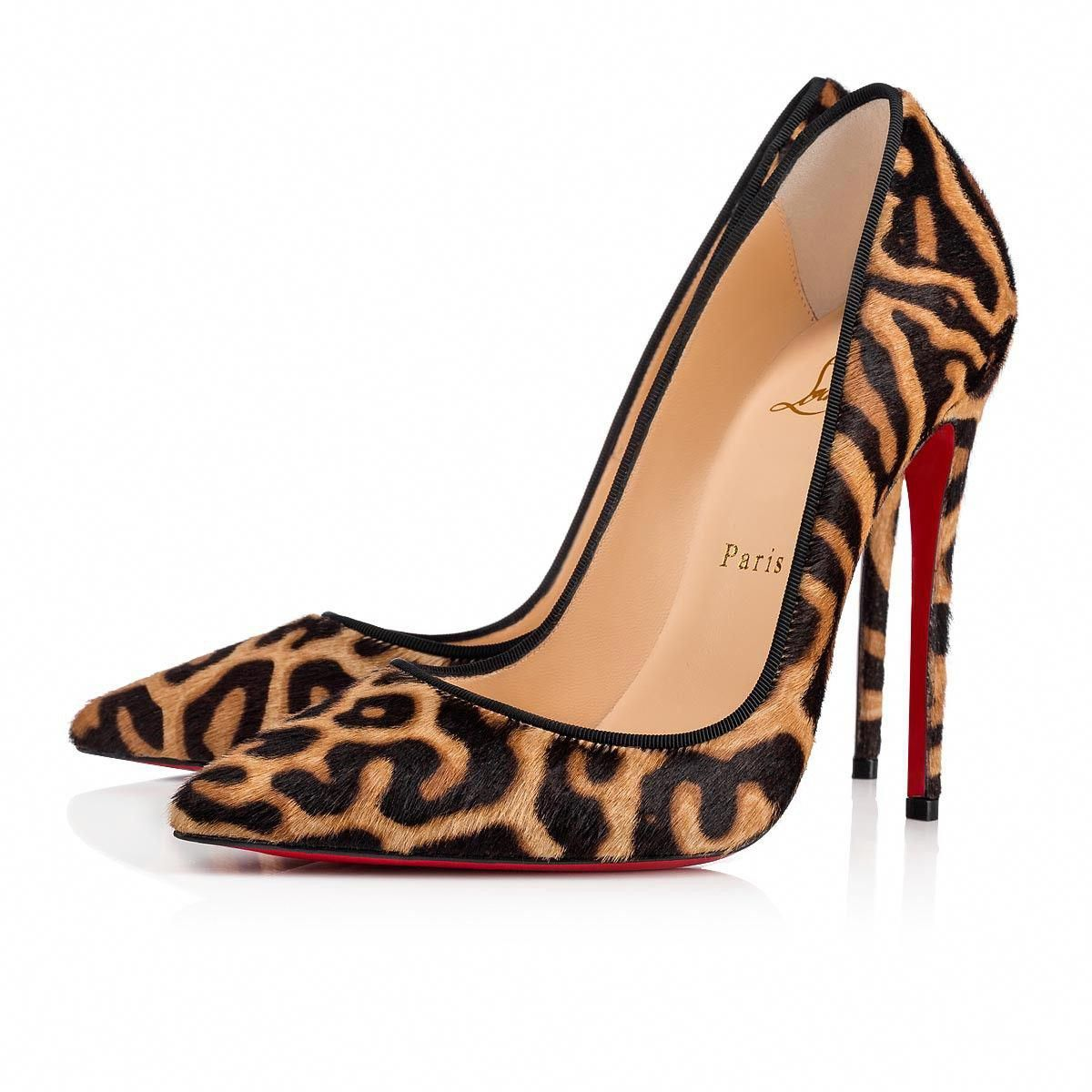 96510baf8dfb Christian Louboutin United States Official Online Boutique - So Kate 120  Brown Black Printed Pony available online. Discover more Women Shoes by  Christian ...