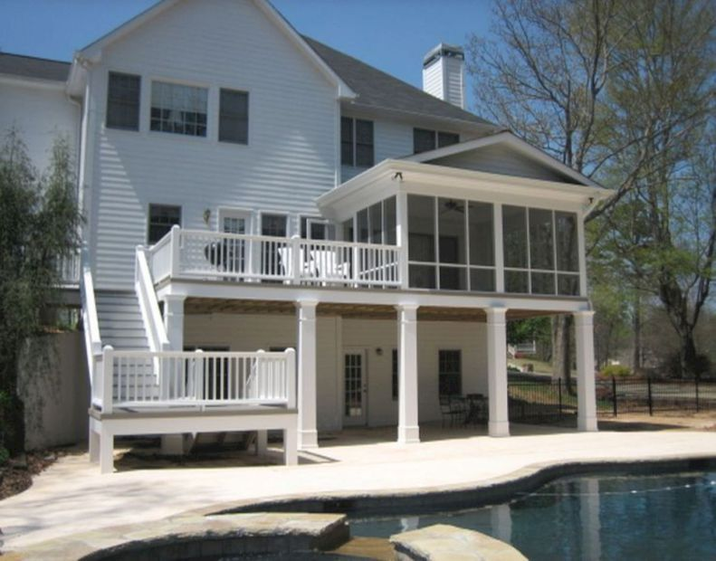 8 Ways To Have More Appealing Screened Porch Deck Building A Deck Decks And Porches House With Porch