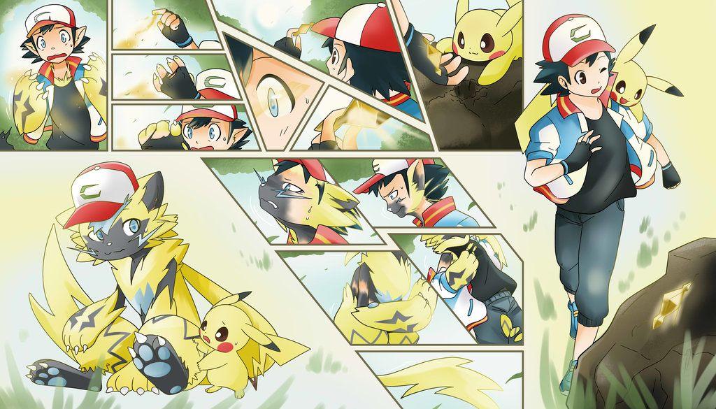 Ash S Zeraora Tf By Fezmangaka Ash Ketchum Ash Ketchum Pokemon Ash