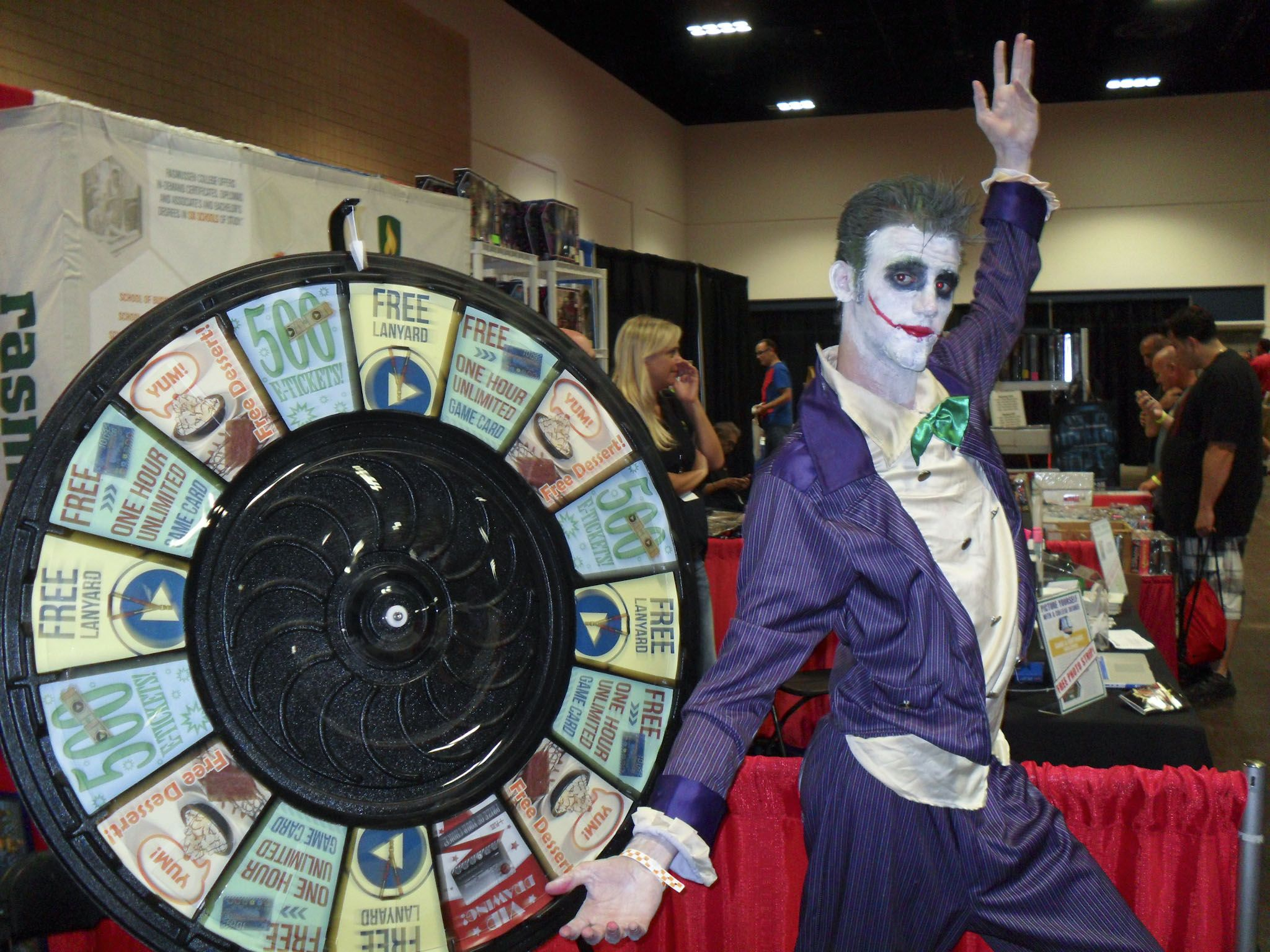 Check Out Some of the Great Pics We Took at Last Year's Tampa Comic Con. Buy this Prize Wheel at http://PrizeWheel.com/products/floor-prize-wheels/.