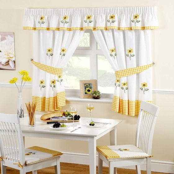 Yellow Kitchen Curtains Yellow Kitchen Curtains Sunflower Kitchen Sunflower Kitchen Decor
