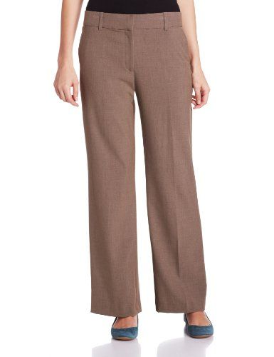 ca3a4e47 Briggs New York Womens Slash Pocket Straight Leg Pant with No Gap Waistband  Heather Taupe 8 * You can get additional details at the image link.