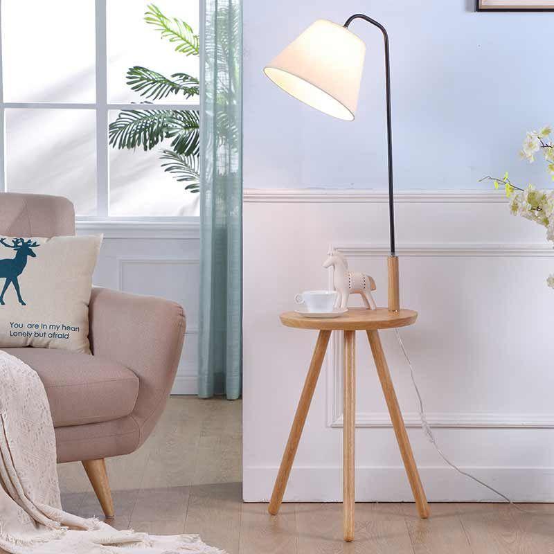 Aimee 55 12 Wood Tray Table Floor Lamp Wooden Floor Lamps Modern Wood Floor Lamp Floor Lamp Table