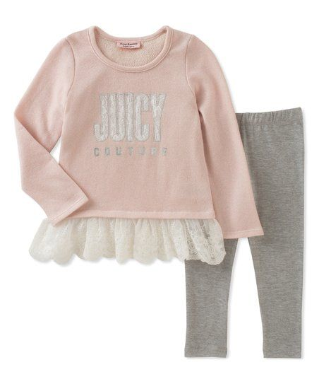 2b5c63d0dea Juicy Couture Pink Juicy Ruffle Tunic & Leggings - Infant, Toddler & Girls  | zulily