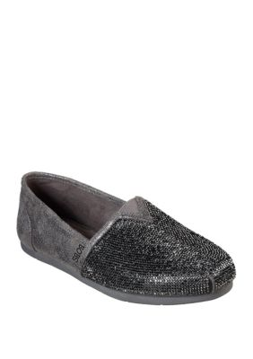 Bobs From Skechers Women Luxe Tea Rose Shoes Pewter 6.5M
