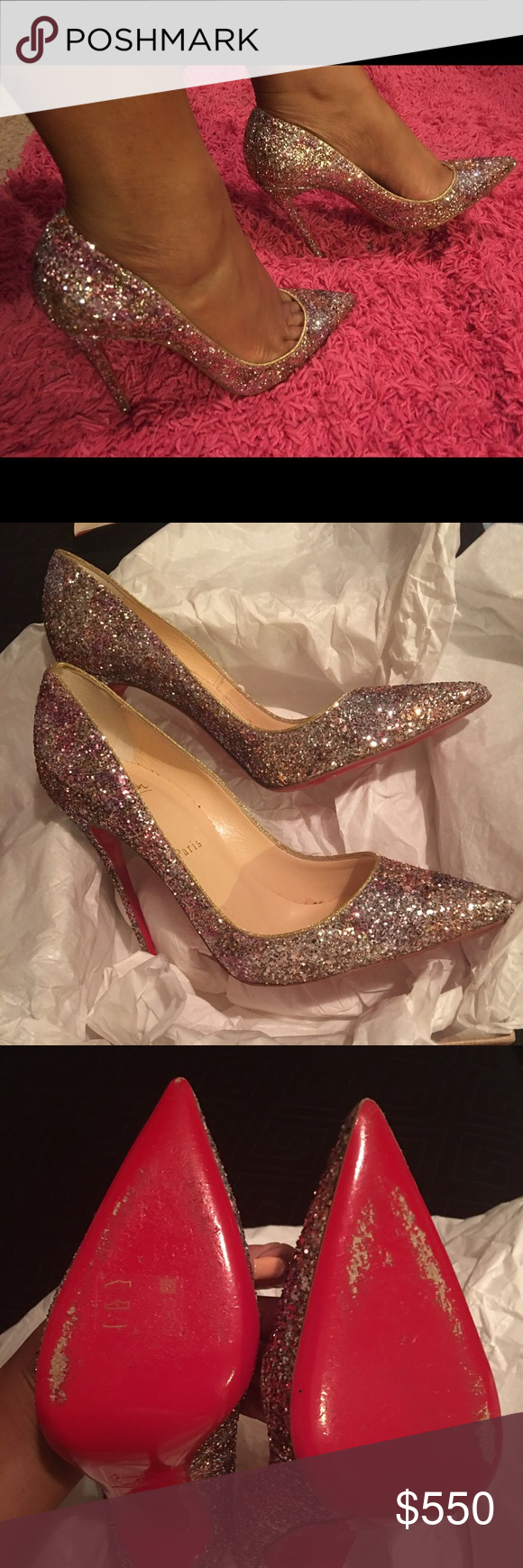 Christian Louboutin So Kate Glitter Pumps 100% authentic GORGEOUS Christian Louboutin So Kate Glitter Pumps. Worn one night for no more than 2 hours. Like New. With box and dustbags Christian Louboutin Shoes Heels