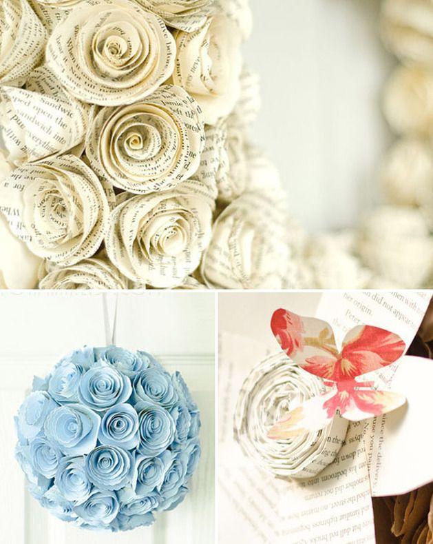 handmade paper wedding decor wedding Pinterest Carta Casa e
