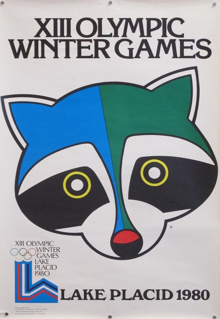 1980 Original Vintage Lake Placid Winter Olympics Poster a48ce8d970e9