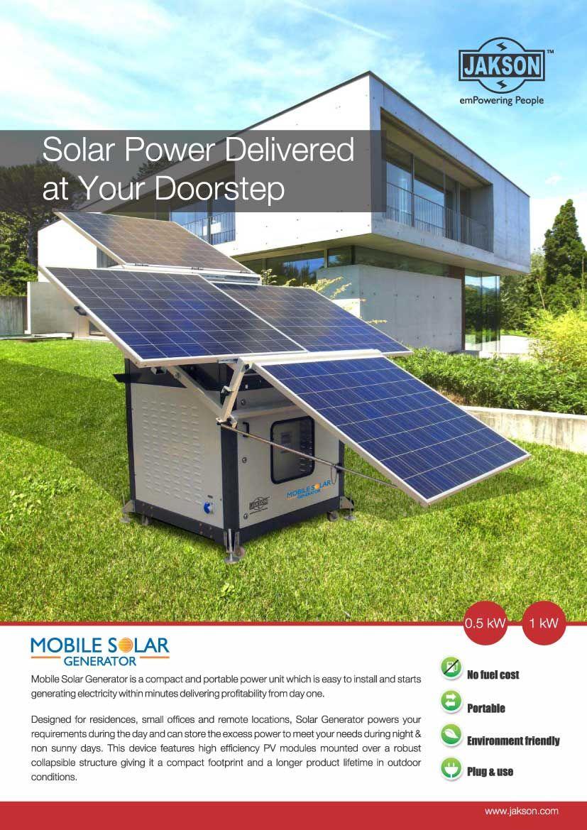 Print Leaflet Solar Power House Solar Generator Roof Solar Panel