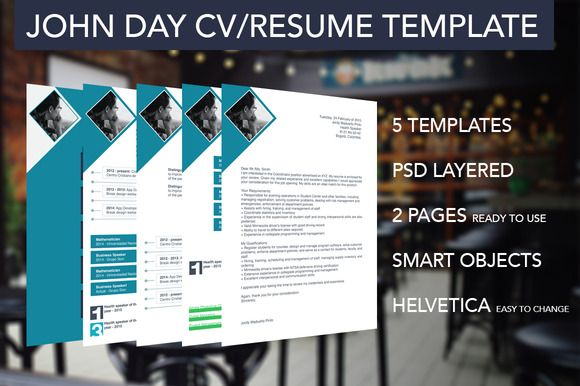 Check out 5 Multipurpose Resume/CV Templates by Xoltic on Creative - resume 5 pages