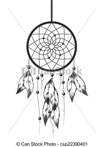Vector Clipart Of Dreamcatcher
