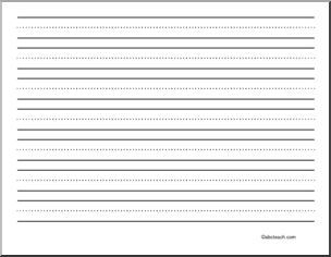 Writing Paper Blank 72 Pt Landscape Primary Primary Lined