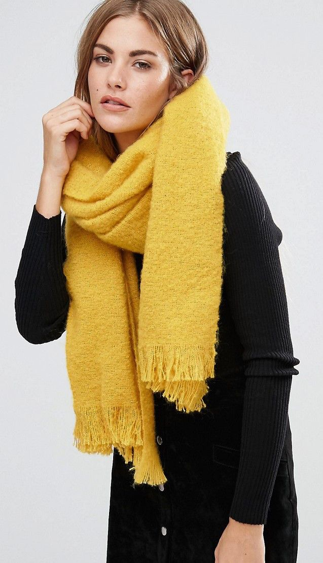 c2d64a742a1 SHOP  Yellow River Island scarf. Team with a blue sweater or coat ...