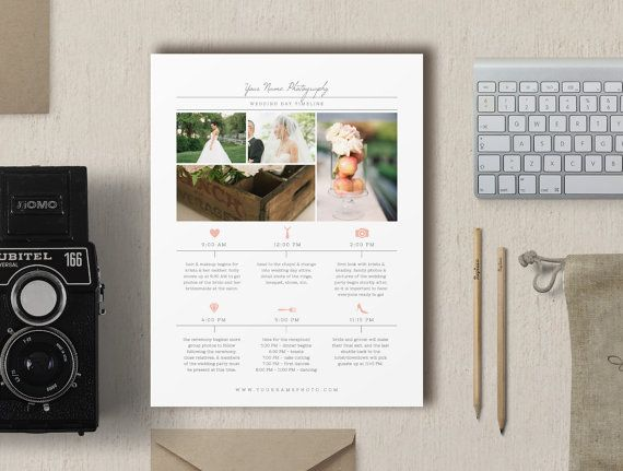 Wedding Photographer Timeline Template - New Client Studio Welcome